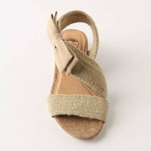 Anthropologie Lucky Penny bowtie Sandals